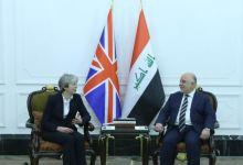 صورة رئيسة وزراء بريطانيا تصل بغداد وتجتمع مع العبادي