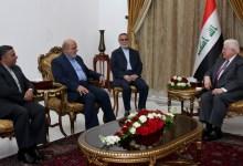 صورة معصوم يستقبل سفير الإيراني لدى العراق