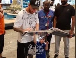 ميسي في دبي بزيارة عائلية