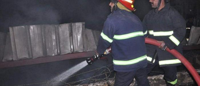 بالصور .. اخماد حريقين كبيرين في شارعي المتنبي وأبي نؤاس
