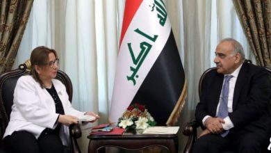 صورة رئيس مجلس الوزراء عادل عبدالمهدي يستقبل وزيرة التجارة التركية روهصار بكجان