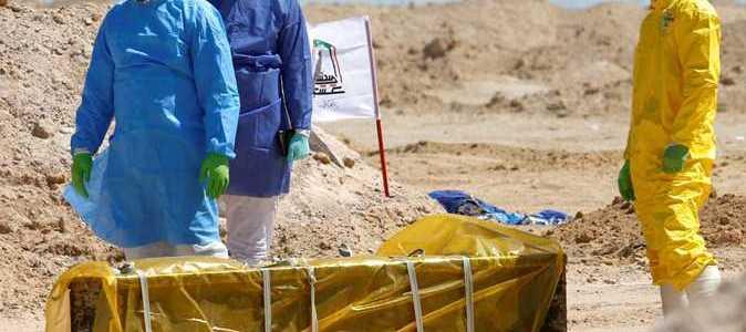 فرقة الامام علي القتالية،تعلن موقف دفن جثث ضحايا كورونا اليومي
