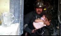حريق يحاصرعوائل في بناية سكنية وسط بغداد و الدفاع المدني يتدخل