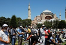 """صورة """"آيا صوفيا"""" يستقبل أول صلاة منذ 86 عاماً بحضور اردوغان"""