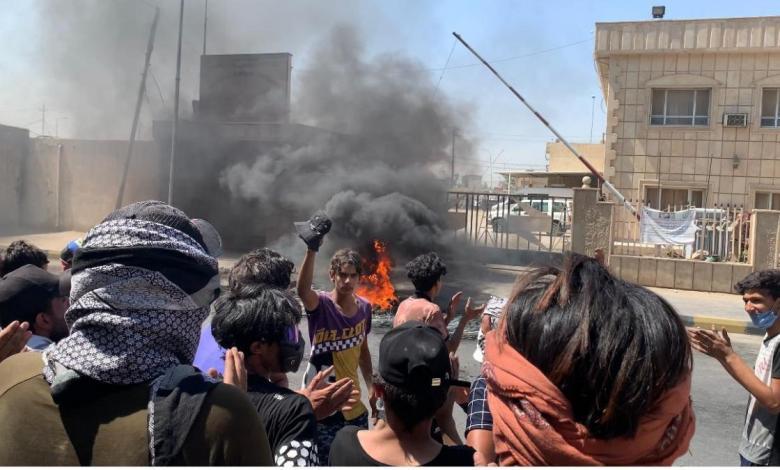 صورة صحيفة: الاحتجاجات ستتصاعد ضد حكومة الكاظمي خلال الايام المقبلة