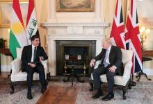 صورة رئيس إقليم كوردستان يلتقي رئيس الوزراء البريطاني في لندن
