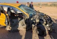 صورة اصابة 5 مدنيين بحادثي سير في محافظتين