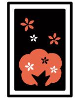 季節の白黒赤絵本『きせつ』