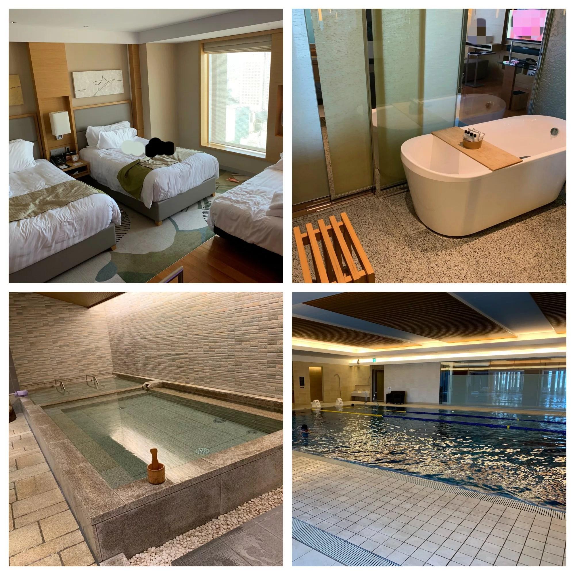 インターコンチネンタルホテル大阪宿泊記(デラックスツイン・プール・日本式浴場の様子)