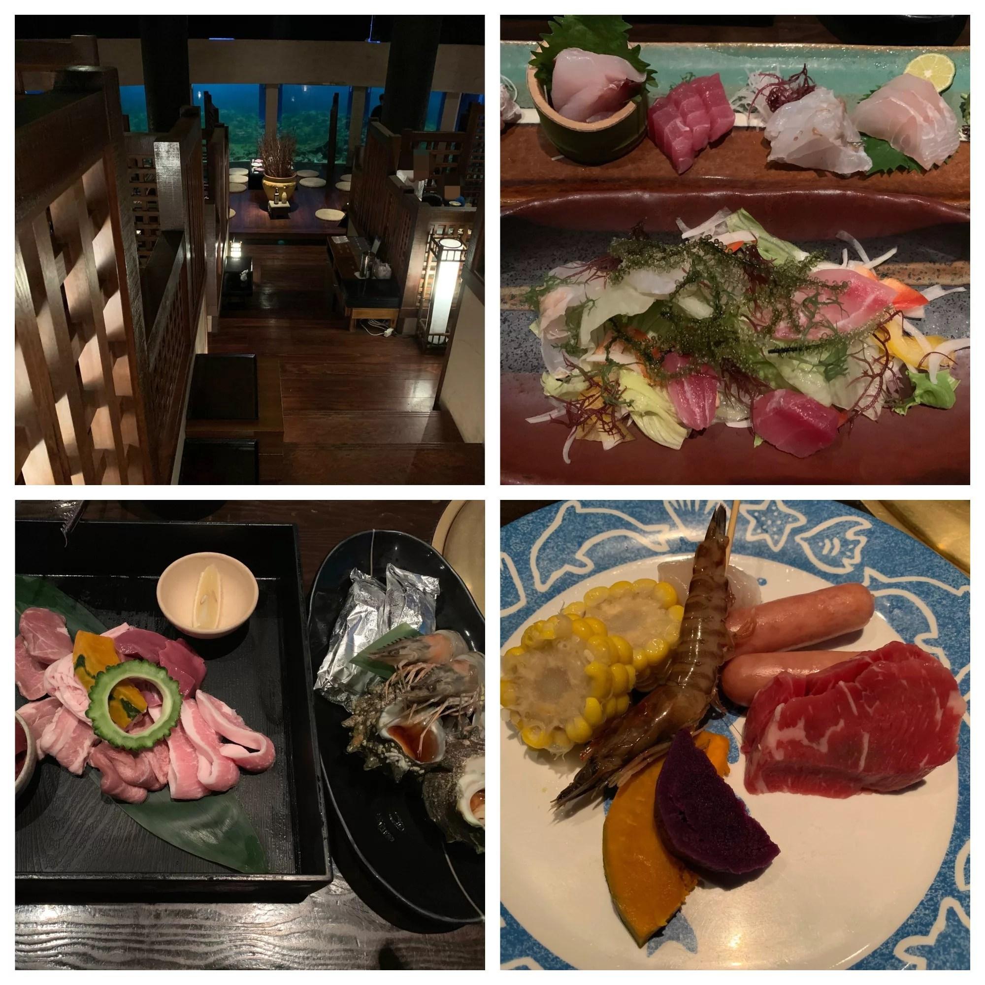 ルネッサンスリゾートオキナワ「海風」ディナー(水槽の前で食べる沖縄料理と炭火焼)