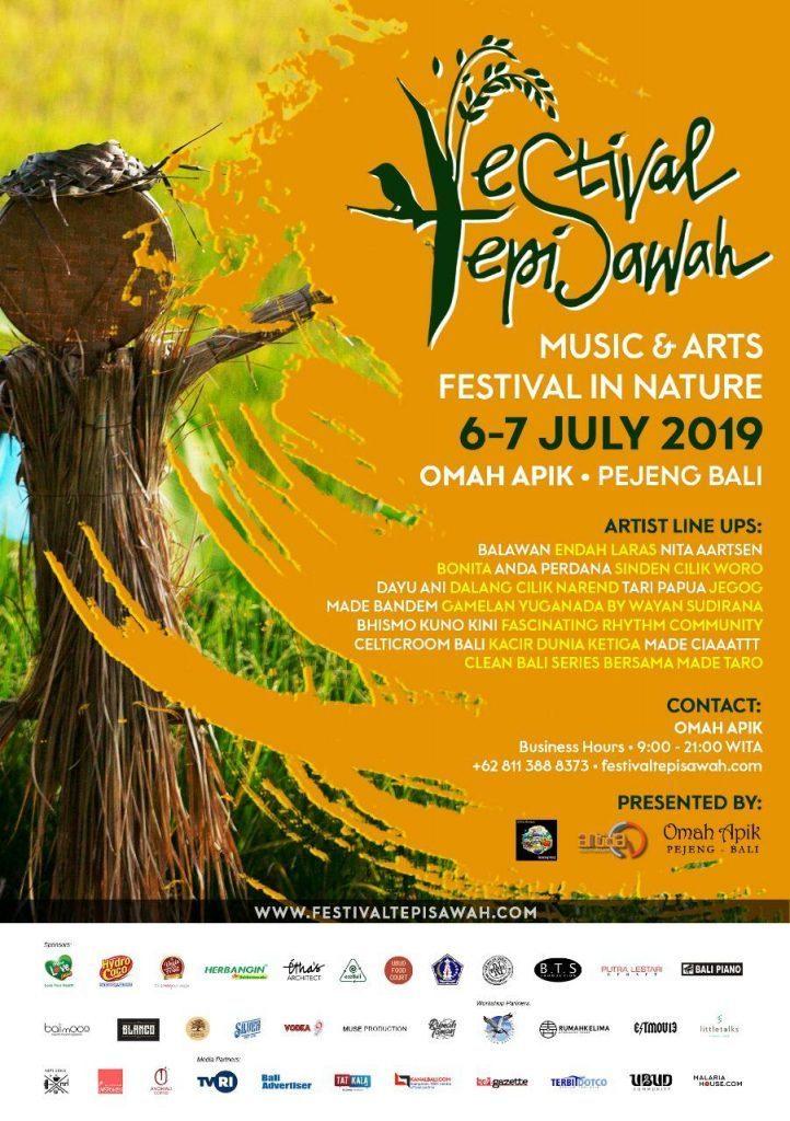 Festival Tepi Sawah Schedule Poster
