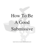 How To Be A Good Submissive