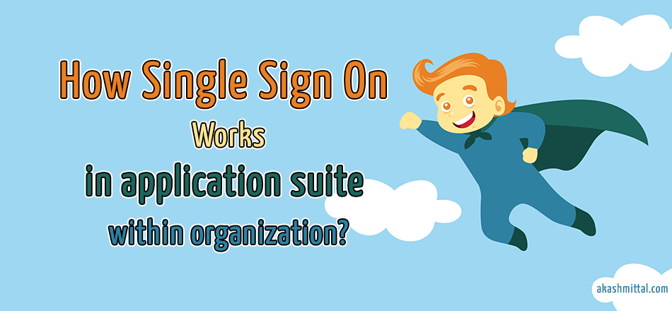 how single sign on works in application suite within organization