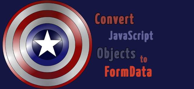 convert javascript object to formdata for post request