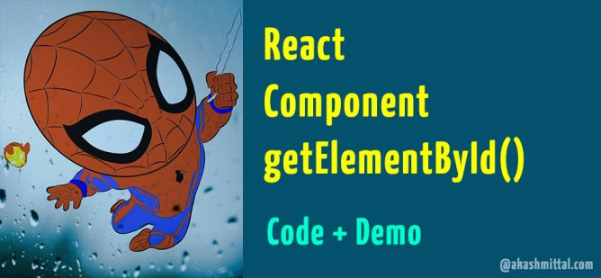 react component get element by id code example demo