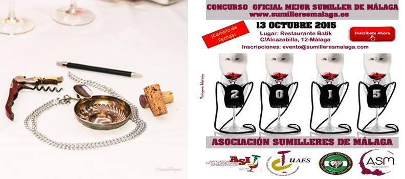 Cartel Inscribite Concurso Mejor Sumiller de Malaga 2015 © akataVino