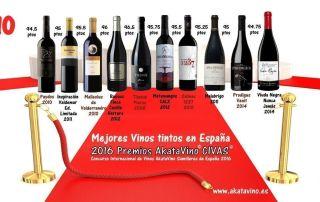 Mejores vinos tintos en España 2016 Cartel by Guia AkataVino CIVAS2016