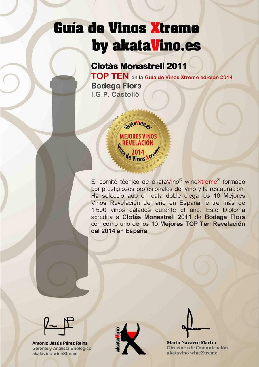 Clotas monastrell 2011 Los 10 Mejores Vinos Revelación de España. Top Ten Revelación Guía de Vinos Xtreme 2014_Página_06