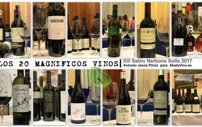 Vinos 20 Magnificos Salon Narbona Solis by AkataVino Magazine © 2017