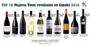 La lista TOP 10 Mejores Vinos Revelación en España 2016 by Akatavino CIVAS