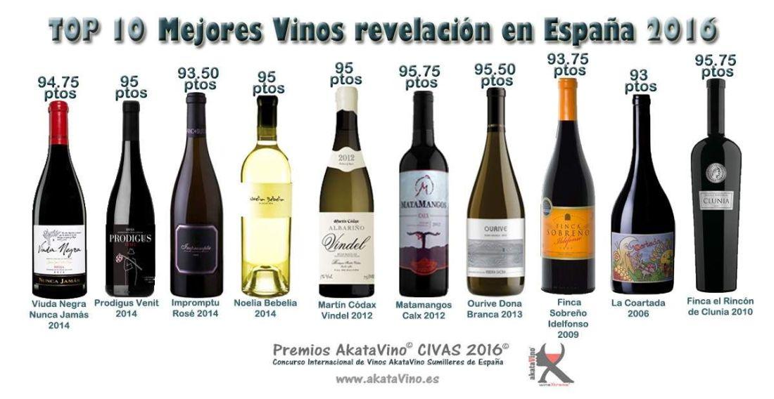 TOP 10 Mejores Vinos Revelación en España 2016 Guía AkataVino