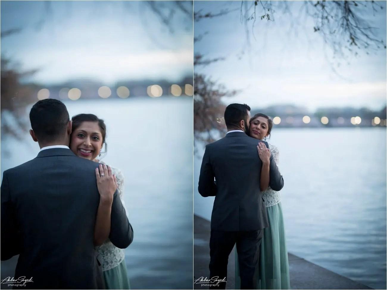 Tidal Basin Washington DC Engagement, Akbar Sayed Photography