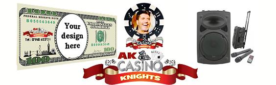 Corporate casino hire fun monaye and chips