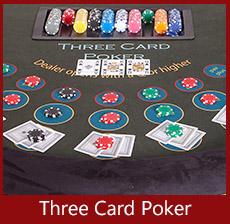 A K Casino Knights Three card poker