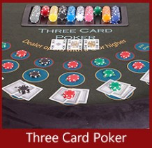 A K Casino Knights Three card poker