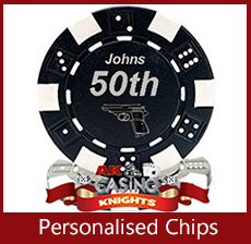 A k Casino Knights Personalised chips