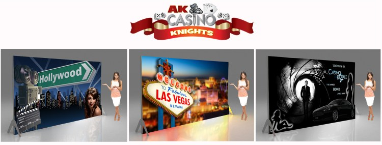Casino banners and backdrops