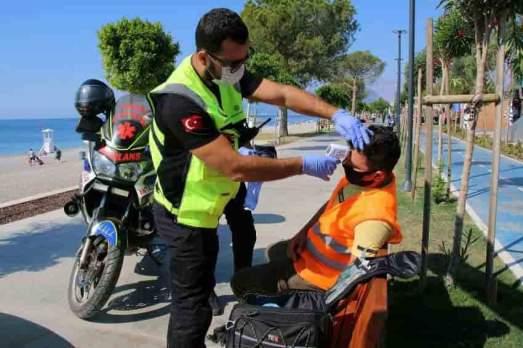 112 motosikletli acil sağlık ekipleri
