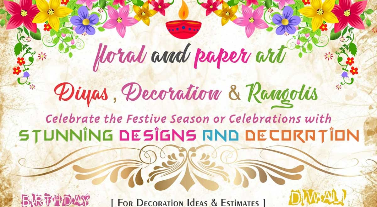 Festive Floral And Paper Art Decoration Ake News