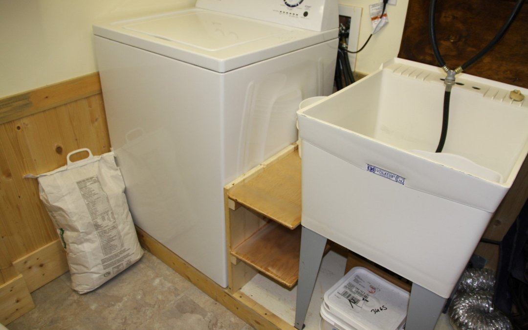 Shelving in laundry room