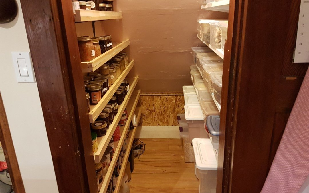 Just in time for Christmas… pantry complete