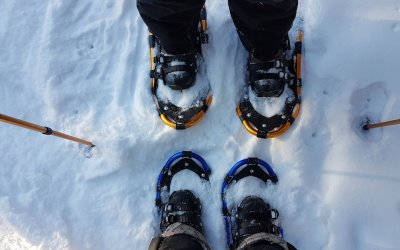 Snowshoeing before the latest snow