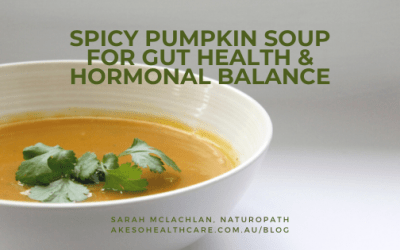 Spicy Pumpkin Soup for Gut Health & Hormonal Balance