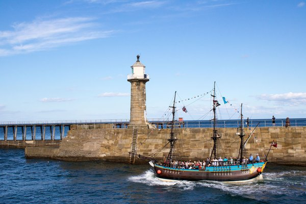 Tourist Boat Sailing out of Whitby