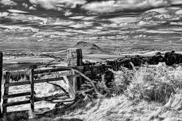 Roseberry Topping B&W