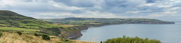 Robin Hoods Bay from Ravenscar Panorama