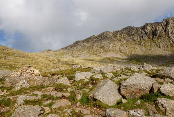 Looking back up from Hollow Stones