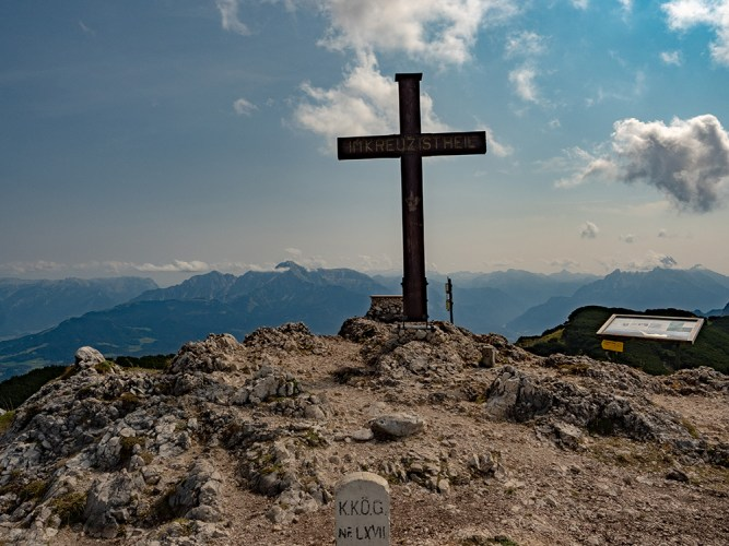 Salzburger Hochthron Summit Cross