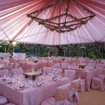 Düğün Çadır Kumaş Süsleme