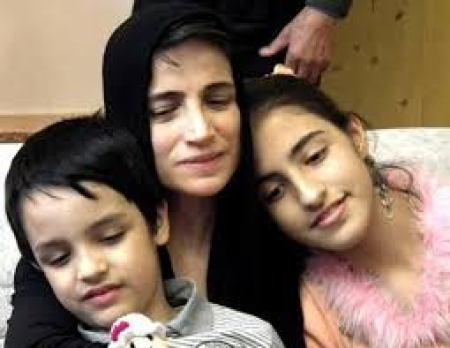 نسرین ستوده در کنار فرزندانش+عکس