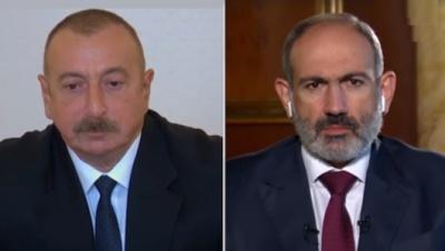 گفتگو با رئیس جمهور آذربایجان و نخست وزیر ارمنستان در باره ی بحران قره باغ