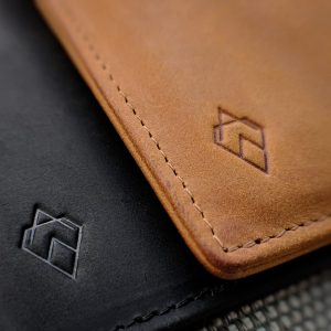 AKIELO BRAVO wallet collection black and tan mens wallet slim