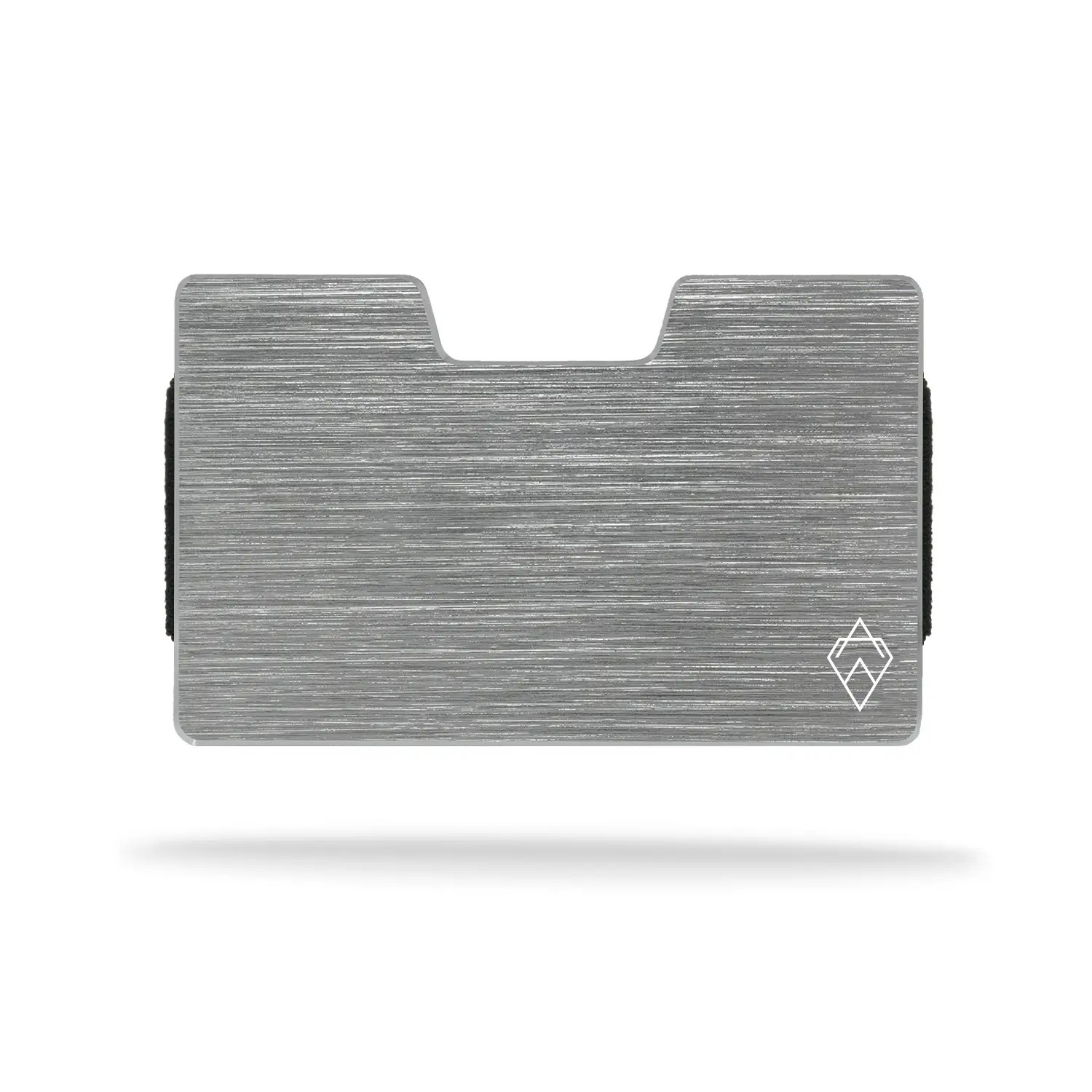 brushed Silver RFID blocking credit card holder wallet with money clip