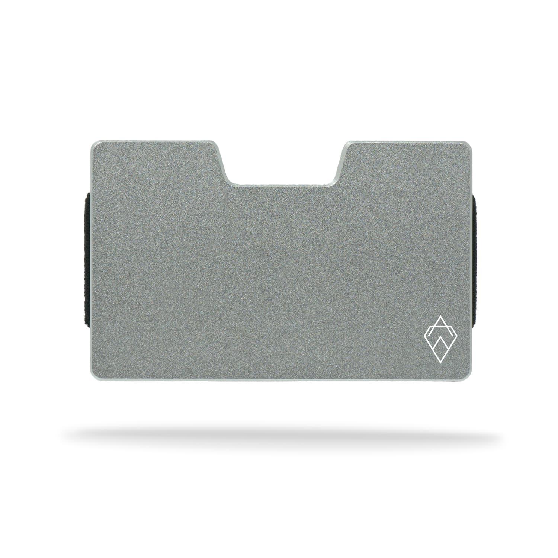 matte Silver RFID blocking credit card holder wallet with money clip
