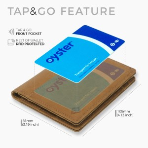 Tap and go wallet tap n go card holder