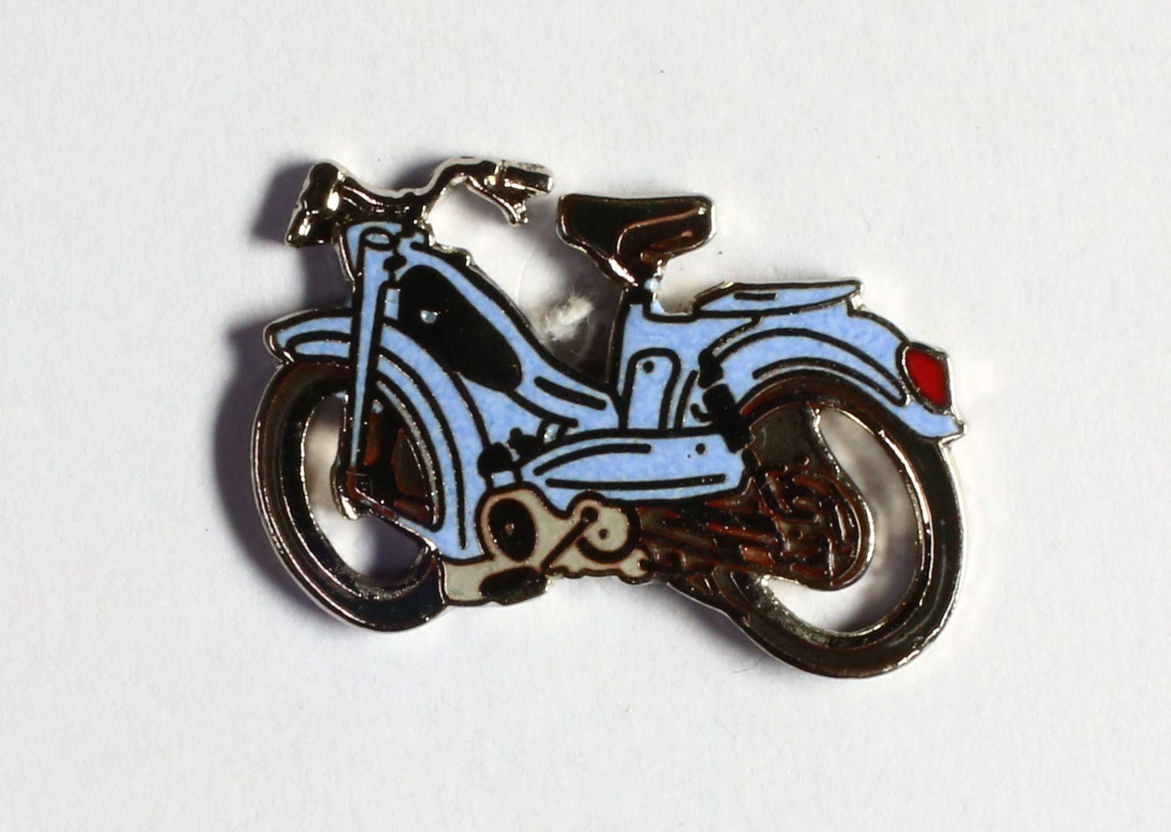 Mobylette bleu ciel selle noire (Petit modèle)